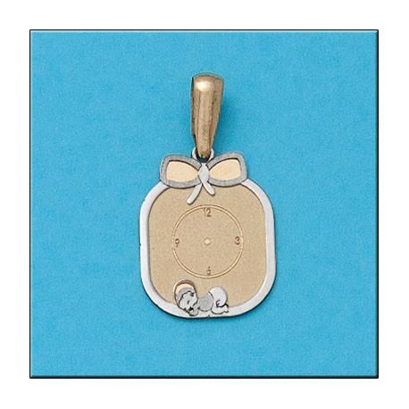 Medalla Bebe Bicolor Oro 1ª Ley