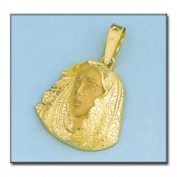 Colgante Virgen de la Macarena Oro 1ª Ley