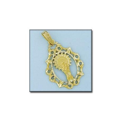 Medalla Silueta Virgen del Pilar Oro 1ª Ley