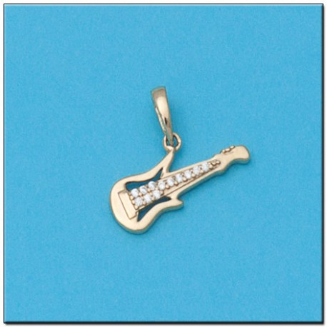 Colgante Guitarra Oro 1ª Ley 18 Kilates
