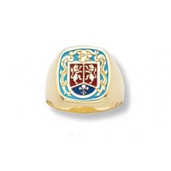 Sello Heraldico Esmalte Caballero Oro 1ª Ley 18 Kilates