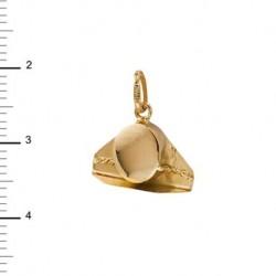 Colgante Tricornio Oro 1ª Ley 18 Kilates