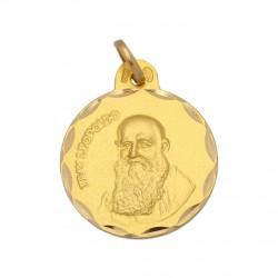 Medalla Fray Leopoldo Oro 1ª Ley 18 Kilates