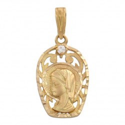 Medalla Virgen Niña Comunion Oro 1ª Ley 18 Kilates