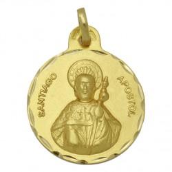 Medalla Santiago Apostol Oro 1ª Ley 18 Kilates