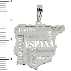 Colgante Mapa de España Plata 925mm