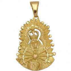 Medalla Virgen de los Dolores Oro 1ª Ley 18 Kilates