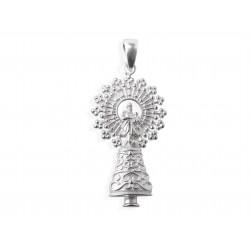 Colgante Virgen del Pilar Plata 1ª Ley