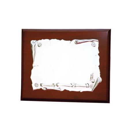 Placa Homenaje Aluminio plateado