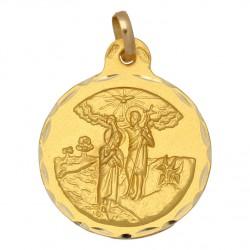 Medalla San Juan Bautista Oro 1ª Ley 18 Kilates