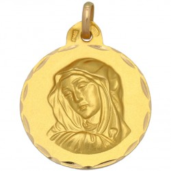 Medalla la Dolorosa Oro 1ª Ley 18 Kilates