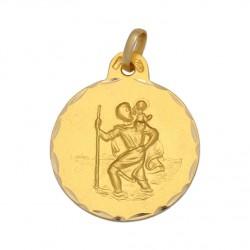 Medalla San Cristobal Oro 1ª Ley 18 Kilates