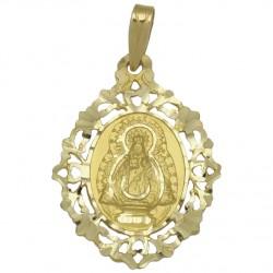 Medalla Virgen de la Fuensanta Oro 1ª Ley 18 Kilates