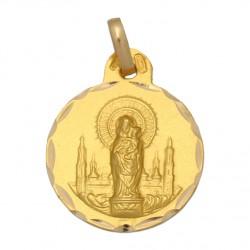 Medalla Virgen del Pilar Oro 1ª Ley 18 Kilates