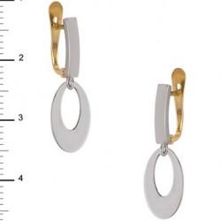 Pendientes Colgante Oro Blanco 1ª Ley 18 Kilates
