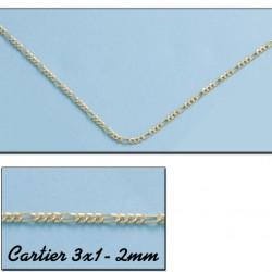 Cadena Cartier 3x1  Oro 1ª Ley 18 Kilates