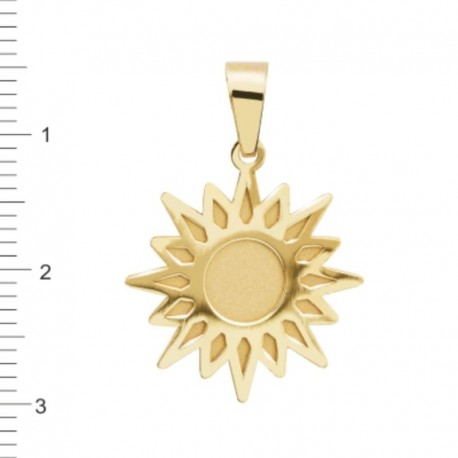 Colgante Sol Oro 1ª Ley 18 Kilates