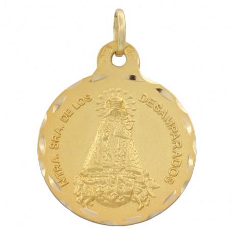 Medalla Virgen de los Desamparados Oro 1ª ley 18 Kilates