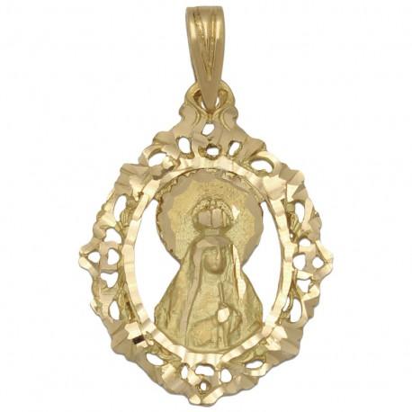 Medalla Virgen de Lourdes Oro 1ª Ley 18 Kilates