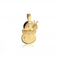 Medalla Bebe Reloj Oro 1ª Ley 18 Kilates