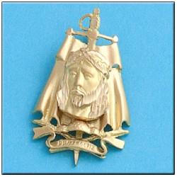 Medalla Cristo de los Toreros Oro 1ª Ley