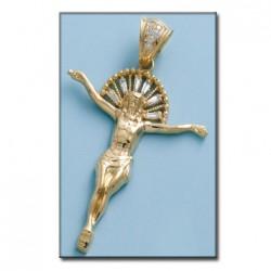 Cruz Cristo Oro 1ª Ley 18 Kilates