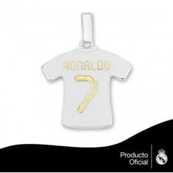 Colgante Camiseta Plata R.Madrid Cristiano Ronaldo