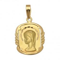Medalla Comunion Niña Oro 1ª Ley 18 Kilates